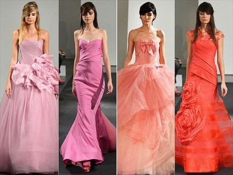 Globetrotting Bride - Vera Wang Pink Gowns - Getty Images